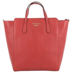 Gucci Convertible Swing Tote Leather Tall