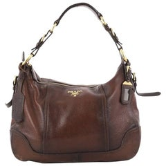 Prada Zip Top Hobo Cervo Antik Leather Medium
