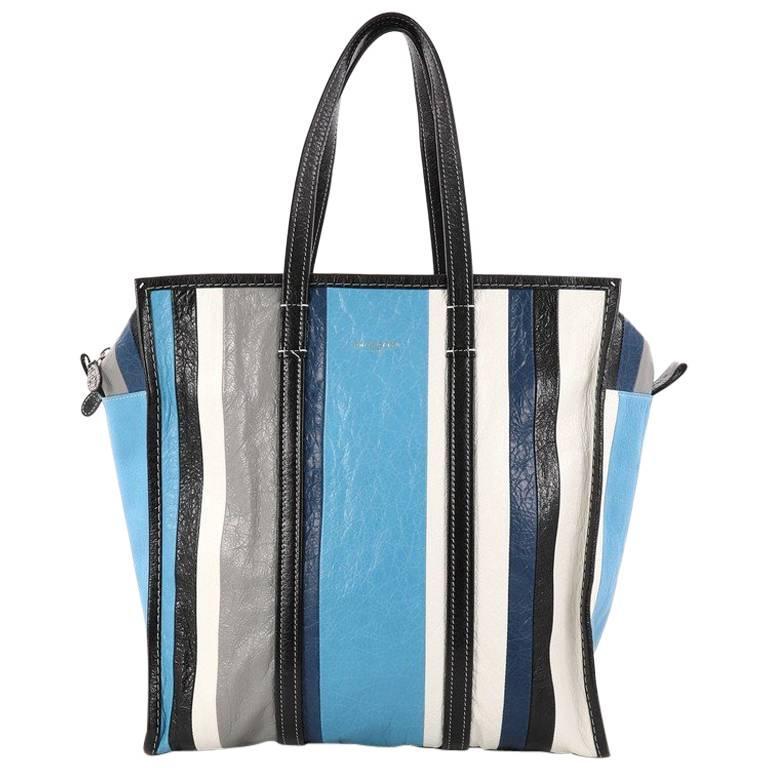 Balenciaga Bazar Tote Striped Leather Medium at 1stdibs 17a9489ae7b25