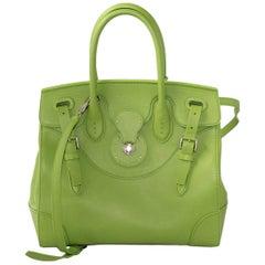 Ralph Lauren Green Soft Ricky 33 Tote Bag