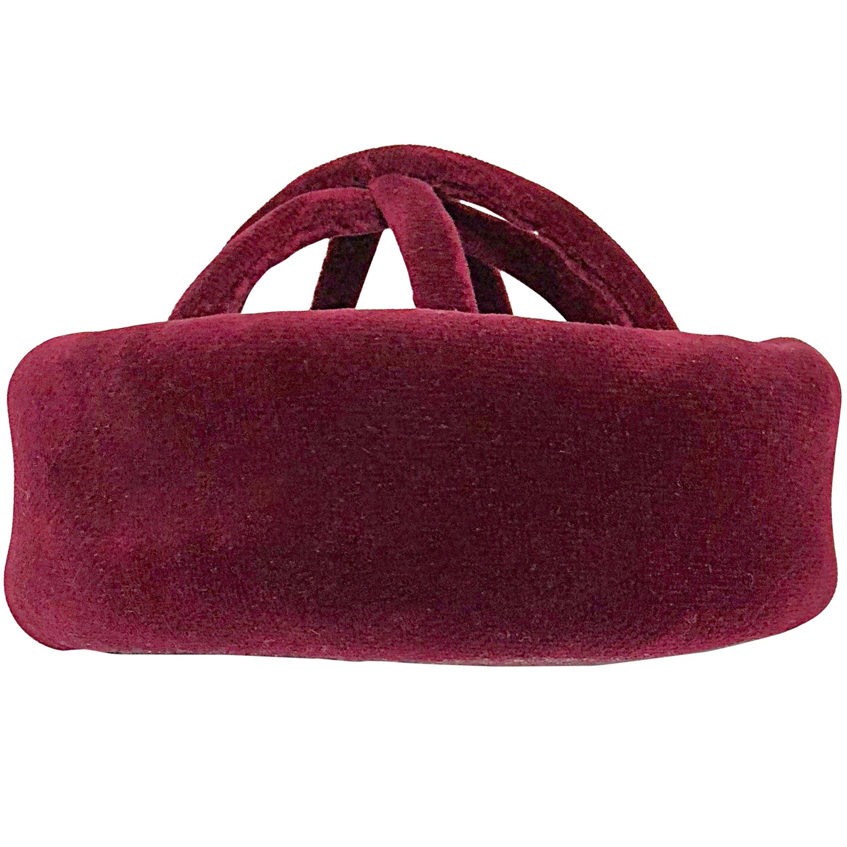 1960s Cardinali Original Sample Burgundy Maroon Avant Garde Velvet 60s Cage Hat
