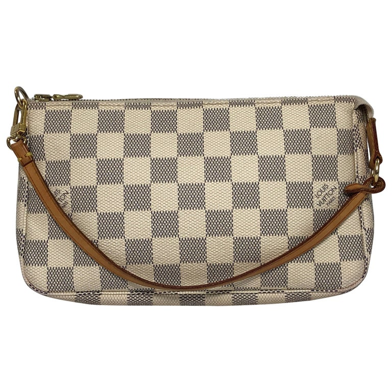 Louis Vuitton Damier Azur Pochette Accessories Wristlet