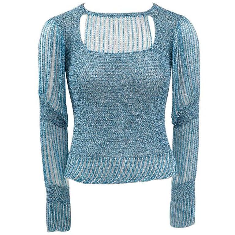 Loris Azzaro Lurex Crochet Top, Circa 1973