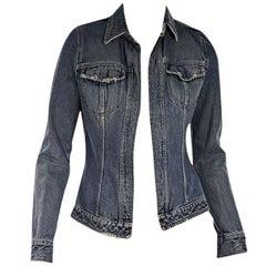 Dolce & Gabbana Distressed Blue Denim Jacket