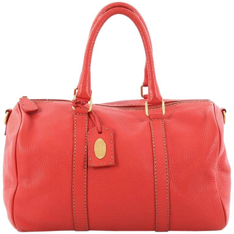 Fendi Selleria Convertible Boston Bag Leather Small