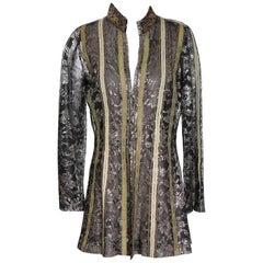 Thea Porter Metallic Lace Jacket, circa 1960s
