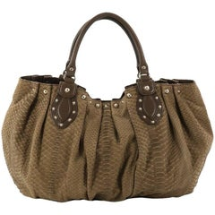 Gucci Pelham Tote Studded Python Large
