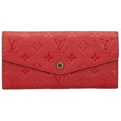 Louis Vuitton Red Empreinte Curieuse Wallet