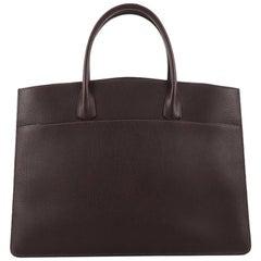 Hermes White Bus Handbag Leather 39