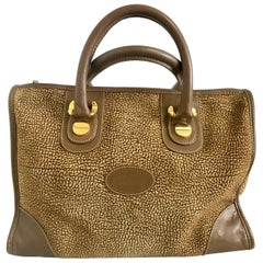 Redwall Vintage Borbonese brown and beige leather bag