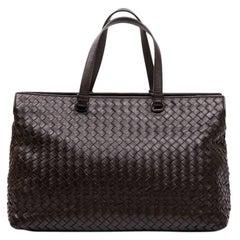 BOTTEGA VENETA Tote Bag in Brown Braided Leather