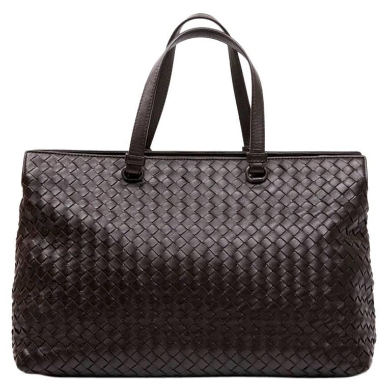 BOTTEGA VENETA Tote Bag in Brown Braided Leather