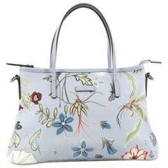 Gucci Convertible Zip Tote Flora Canvas Medium