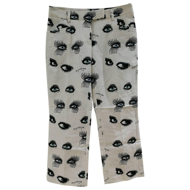 Au Jour le Jour white Eyes Trousers
