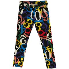 Love Moschino Black multicolour Trousers