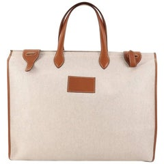 Hermes Kaba Tote Toile and Leather GM