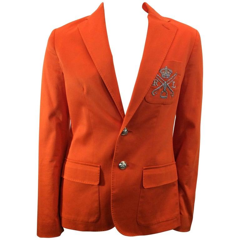 Ralph Lauren Orange Blazer