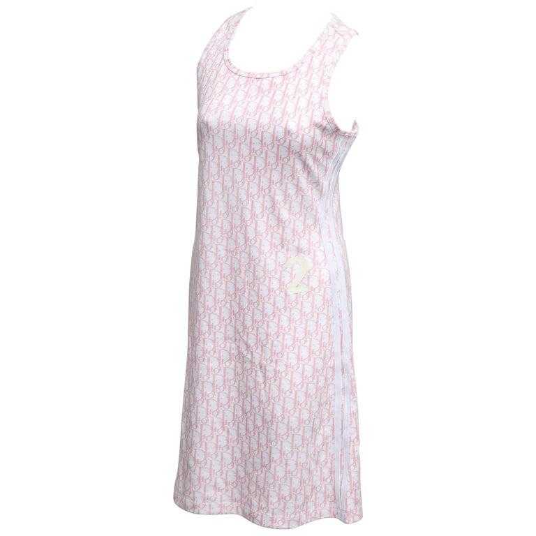 John Galliano for Christian Dior Pink Trotter Logo Dress