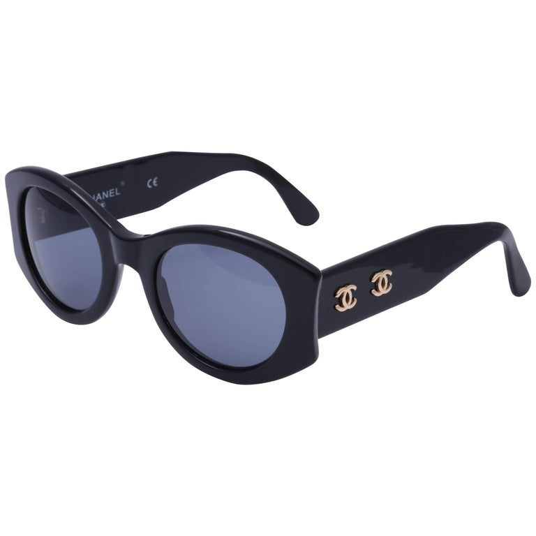 570d9bcb33 Chanel Vintage Double CC Sunglasses at 1stdibs