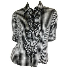 Anne Fontaine Gingham Blouse
