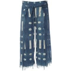 Unisex Hand Dyed West African Indigo Pants