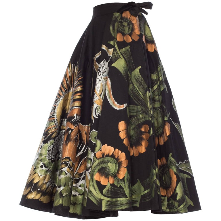 1950s Hand-Painted Mexican Circle Skirt
