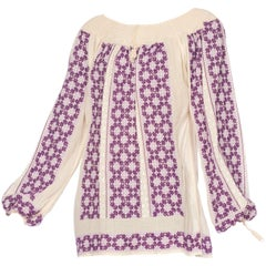 Antique Hand Embroidered Bohemian Boho Blouse