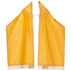 Metallic Gold Vestments with Bullion Fringe & a large Center Back Cross