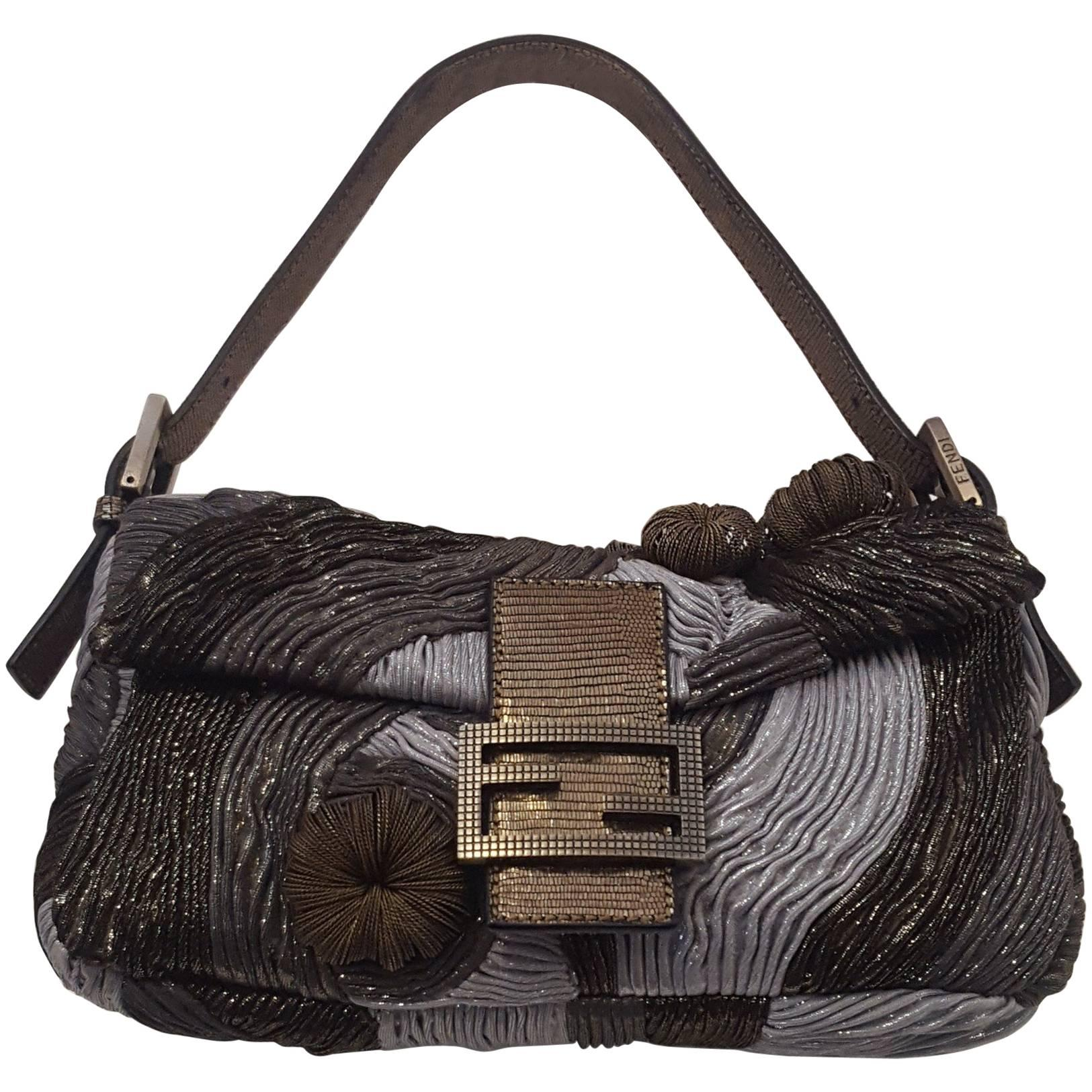 a78c4e29c2 ... ireland fabulous fendi baguette metallic medusa grey brass bag for sale  840a4 a6432