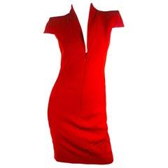 Alexander McQueen Cap Sleeve Dress