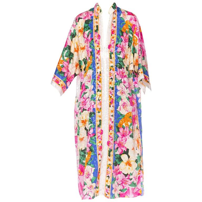 Fab Tropical Floral Kaftan with a zipper