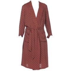 Mens Christian Dior Silk Robe