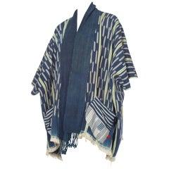 West African Indigo Boho Kimono