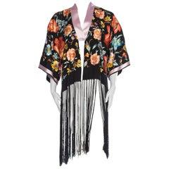 1920s Embroidered Kimono with Fringe