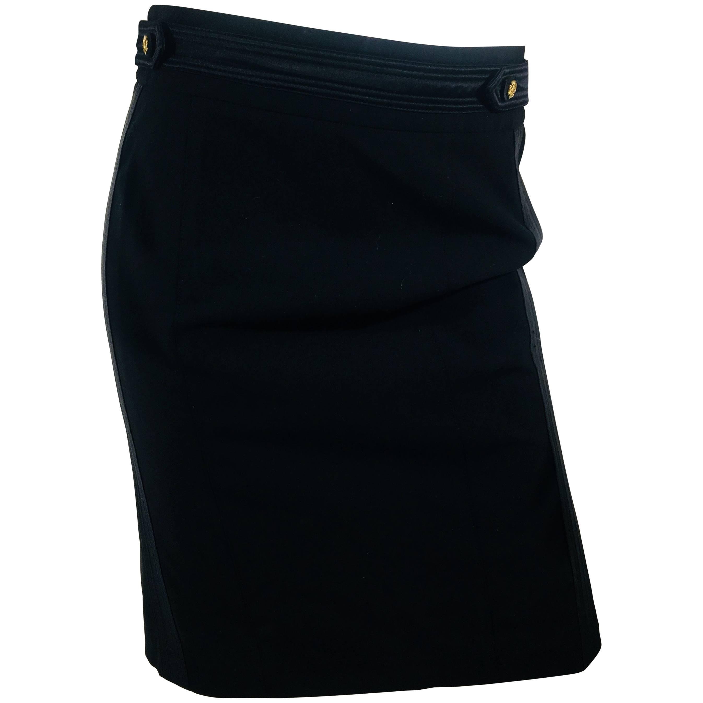 Roberto Cavalli Tuxedo Skirt