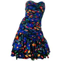Rickie Freeman Floral Dress