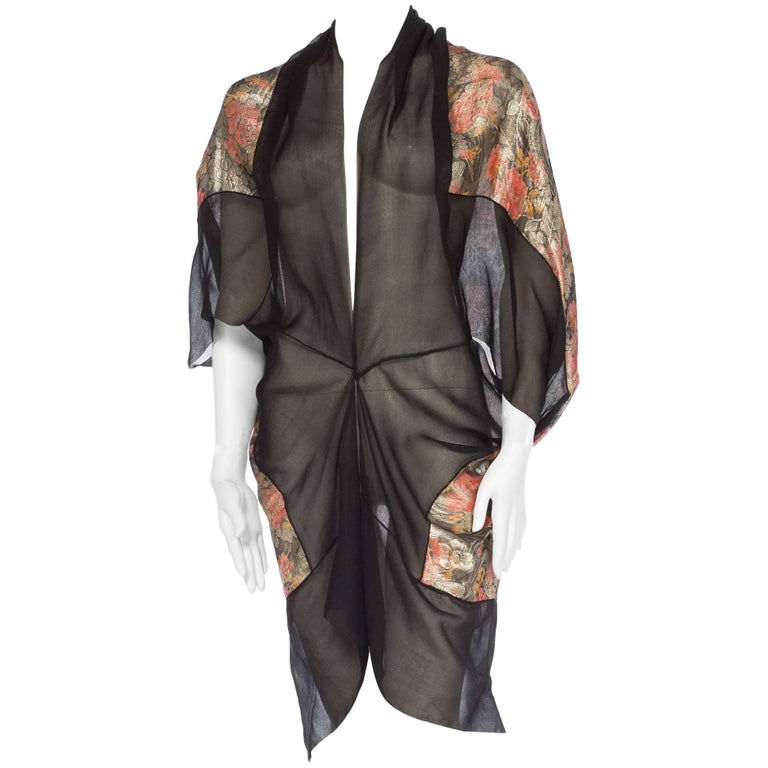 1920s Metal Lamé & Chiffon Cocoon Kimono