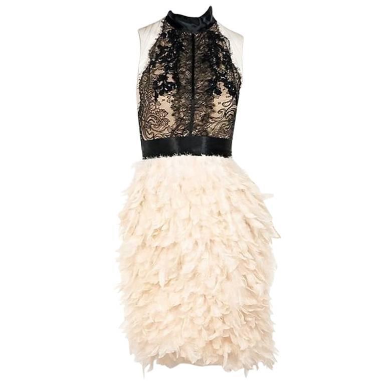 Black & Blush Marchesa Cocktail Dress
