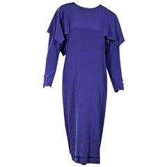 Purple Vintage Chloe Ruffled-Trim Dress