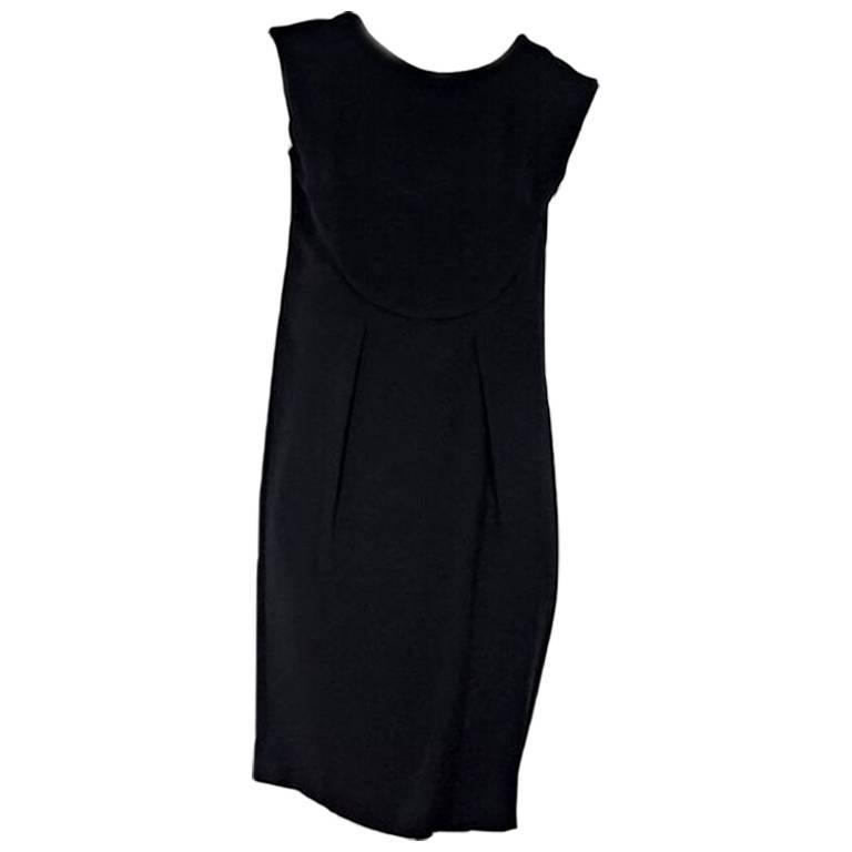 Black Prada Mini Sheath Dress