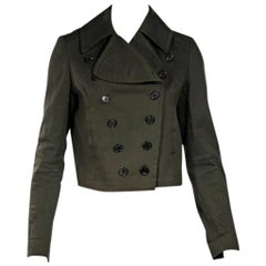 Olive Green McQ by Alexander McQueen Cropped Jacket