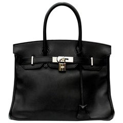 Hermes Birkin Bag 30cm Black Swift Leather 2010