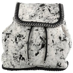 Stella McCartney Falabella Backpack Printed Linen Medium