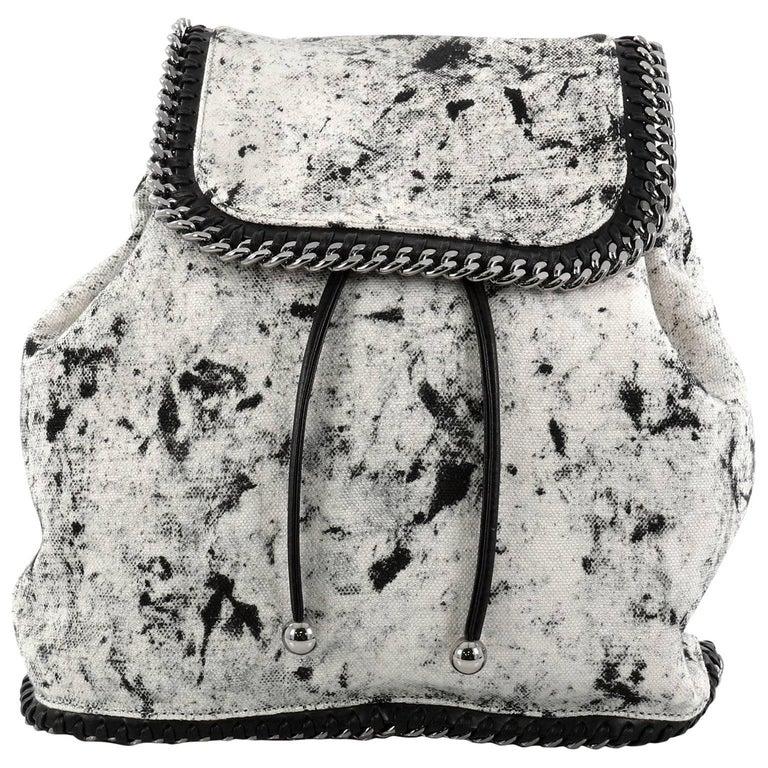 Stella McCartney Falabella Backpack Printed Linen Medium