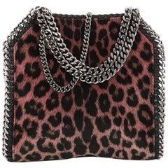 Stella McCartney Falabella Fold Over Crossbody Bag Faux Calf Hair Mini