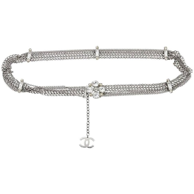 Silvertone Chain Multi-Chain Belt