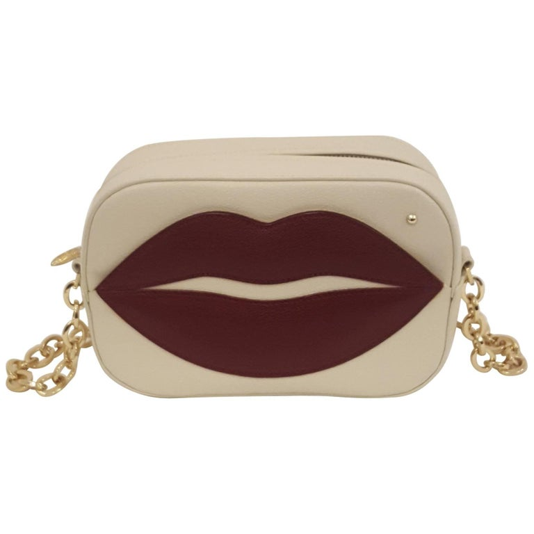 Charlotte Olympia Pouty Red Lips Crossbody Bag