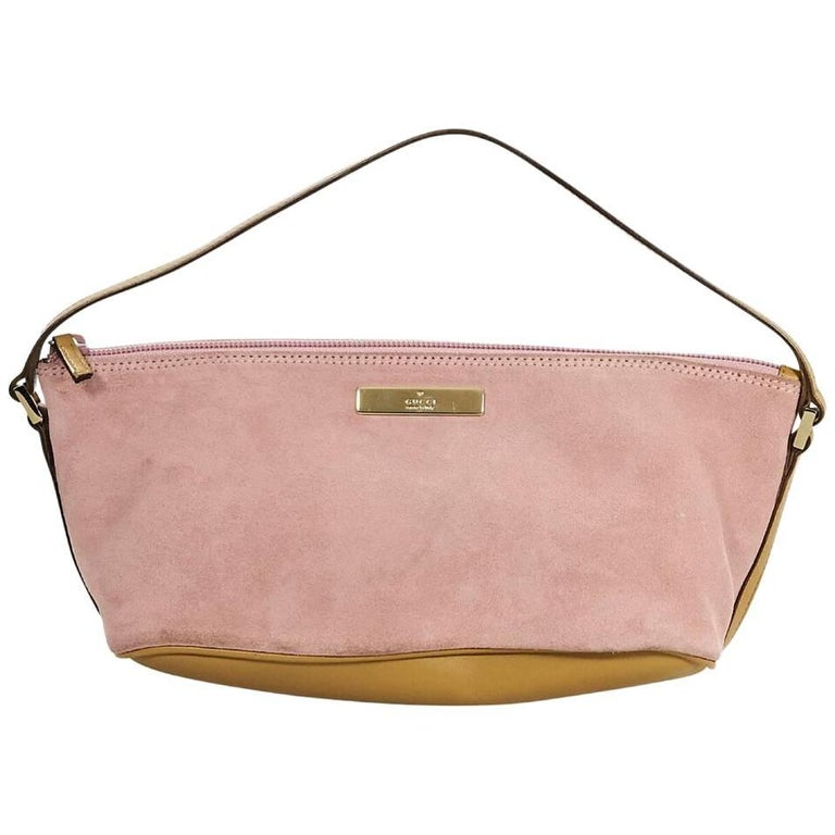 Pink Gucci Suede Mini Handle Bag