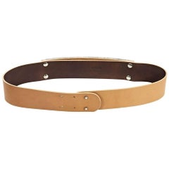 Tan Maison Margiela Leather Belt