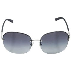 Blue Prada Frameless Square Sunglasses